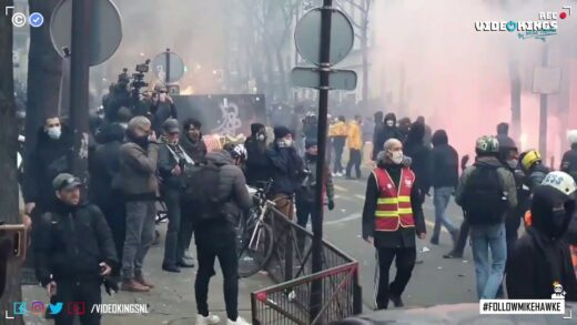 Thousands French citizens fight back against totalitarian regime at massive protest in Paris.