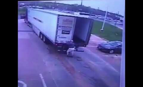 Truck door KO's driver